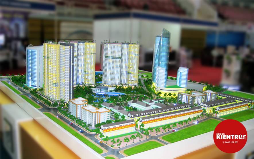 Mô hình kiến trúc dự án Khu đô thị Diamond Bay City