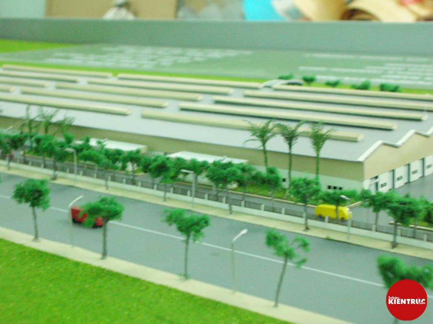 【Sabankientruc.com】Mô hình kiến trúc nhà máy Mercedes Benz Vietnam