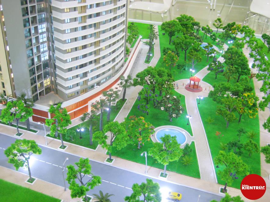 【Sabankientruc.com】Mô hình kiến trúc dự án Cao ốc Blue Diamond