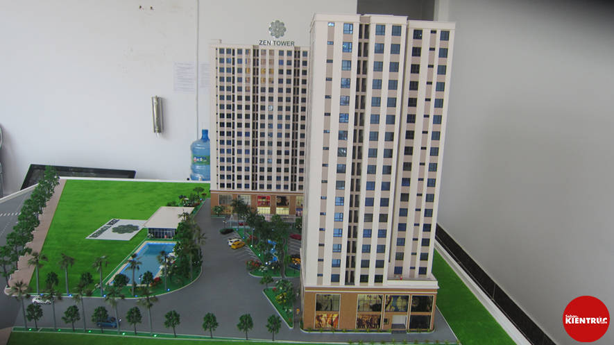 【Sabankientruc.com】Mô hình kiến trúc dự án Zen Tower