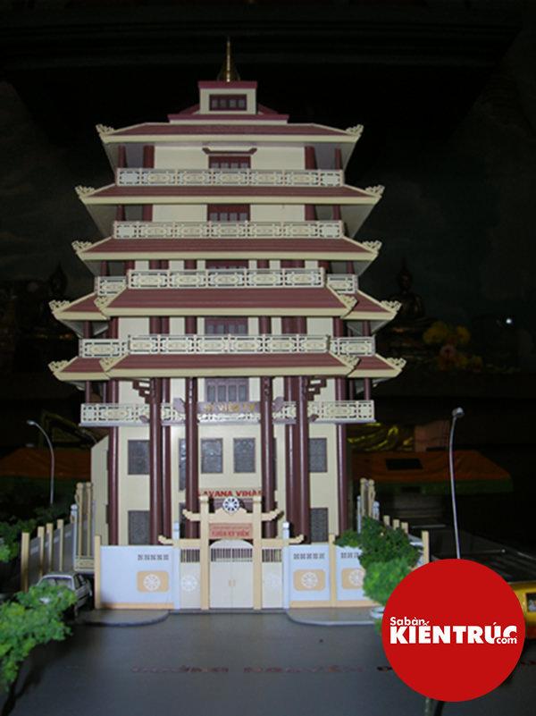 Mô hình kiến trúc Chùa Kỳ Viên