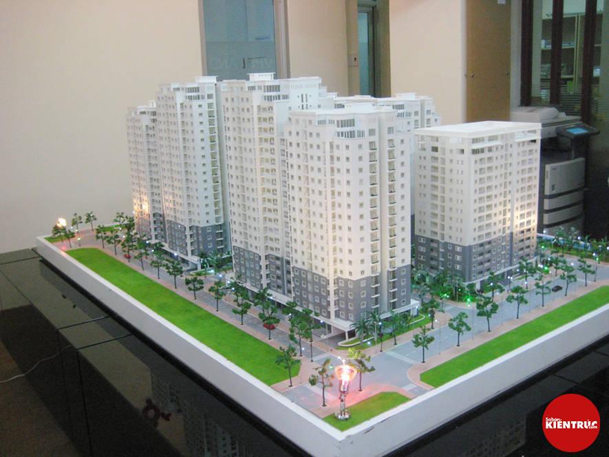 【Sabankientruc.com】Mô hình kiến trúc dự án Chung cư Vạn Phúc Gia