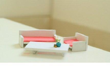 Hướng dẫn làm mô hình bàn học- bộ ghế sofa từ giấy